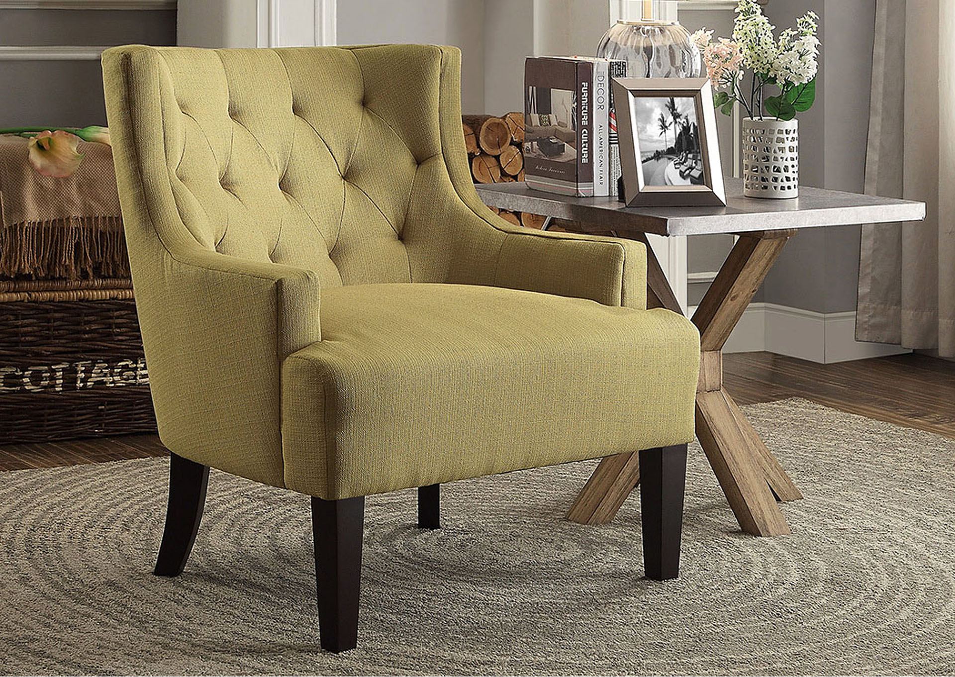 Dulce Mustard Accent Chair,Homelegance