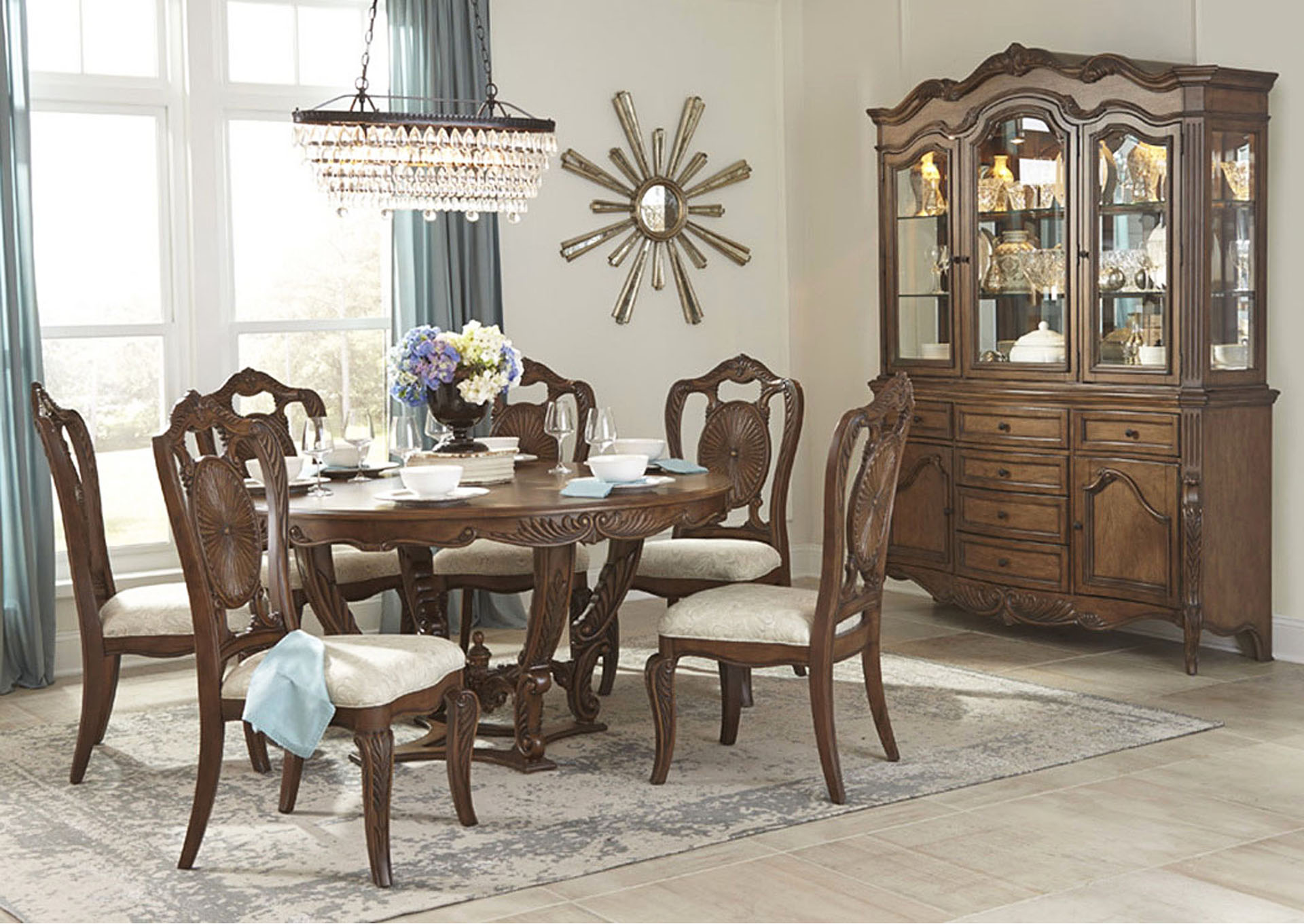 Round Dining Table,Homelegance
