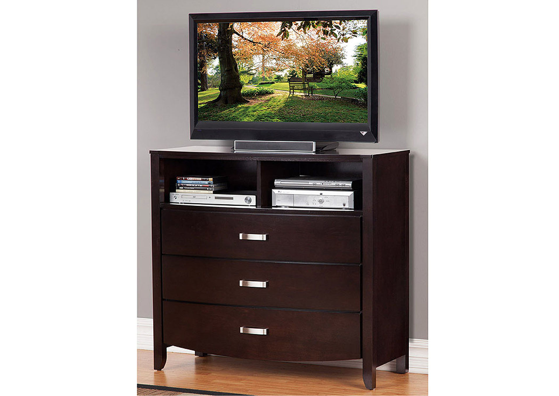 Lyric Dark Espresso TV Chest,Homelegance
