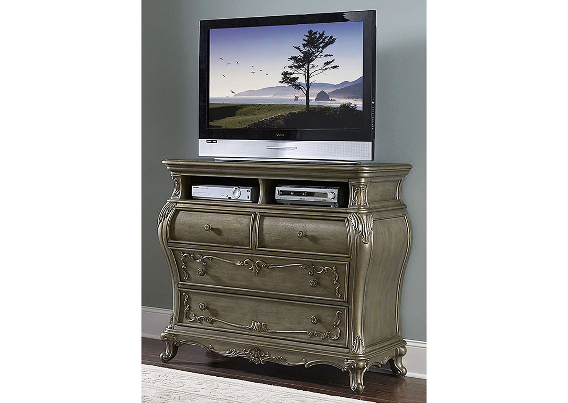 Florentina Gold TV Chest,Homelegance