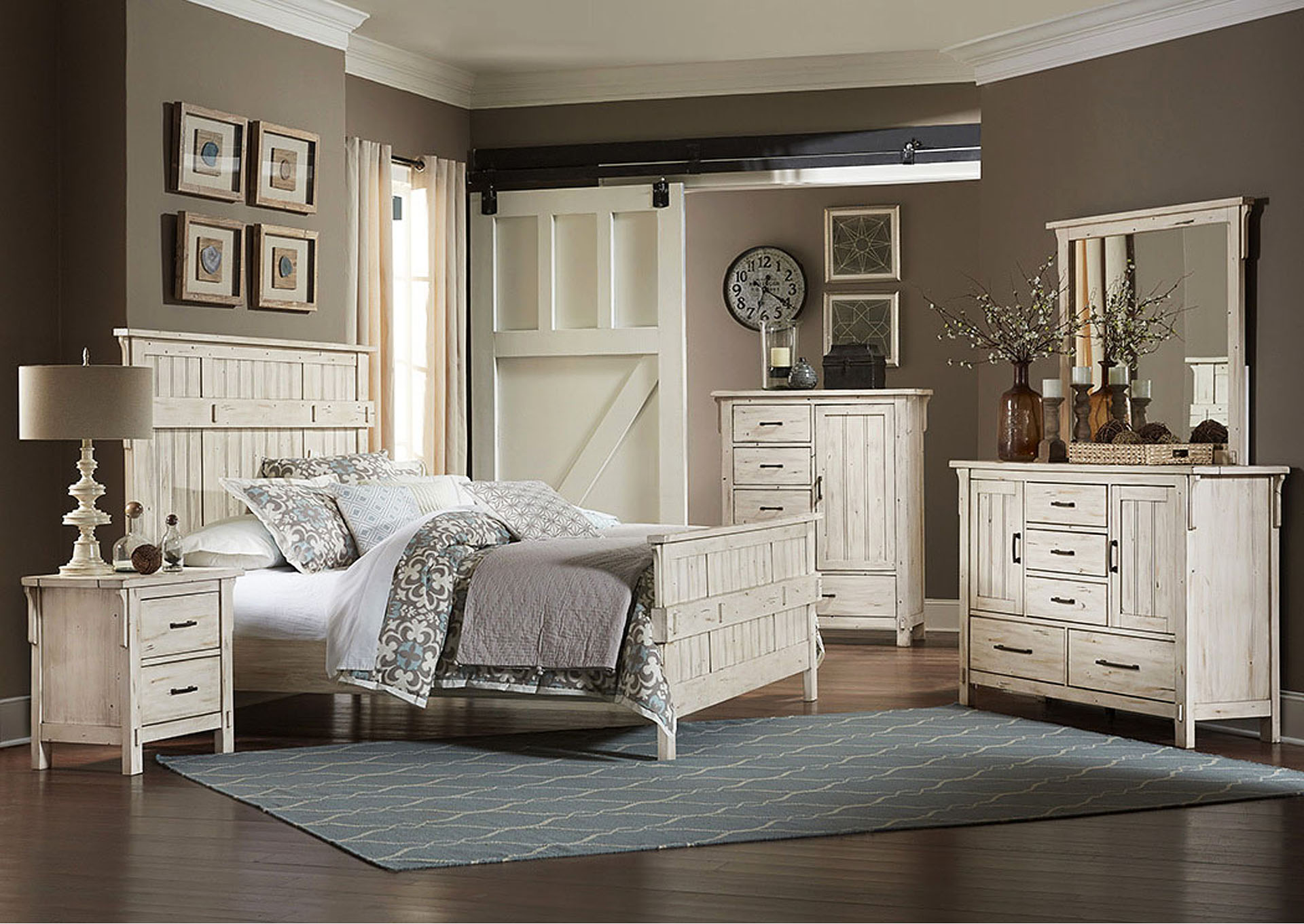 Queen Bed, All Poplar Solid,Homelegance