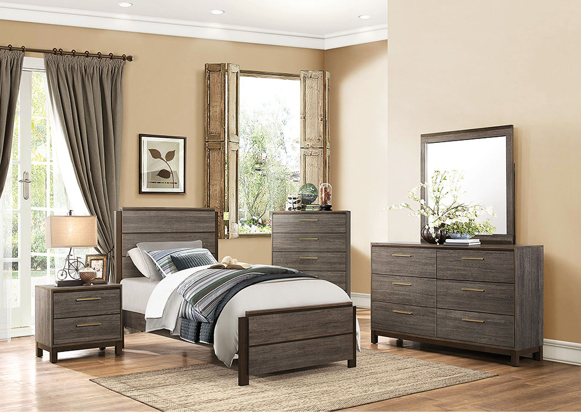 Twin Bed,Homelegance