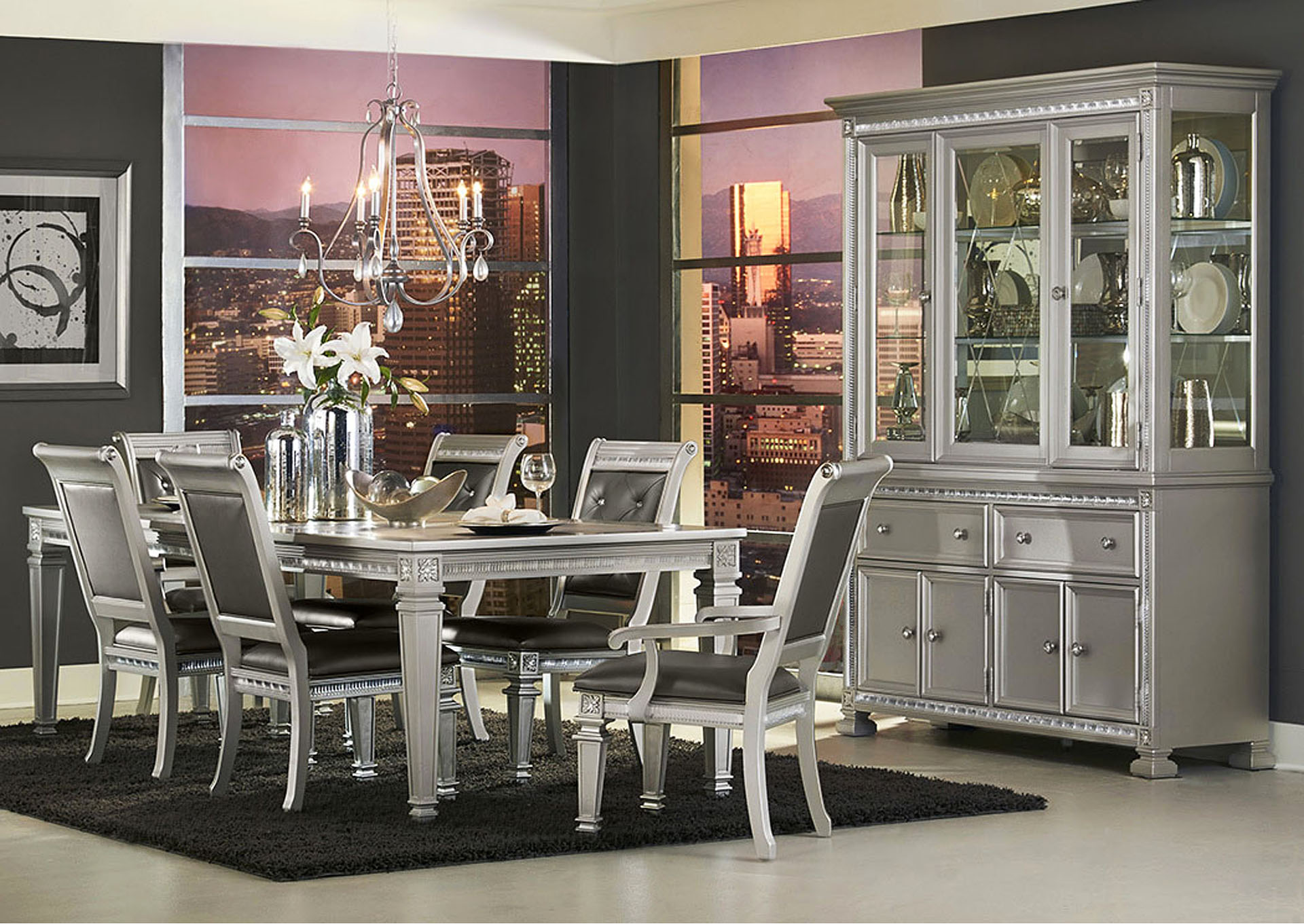 Luxury Home Furniture Dining Table 18 Inch Leaf