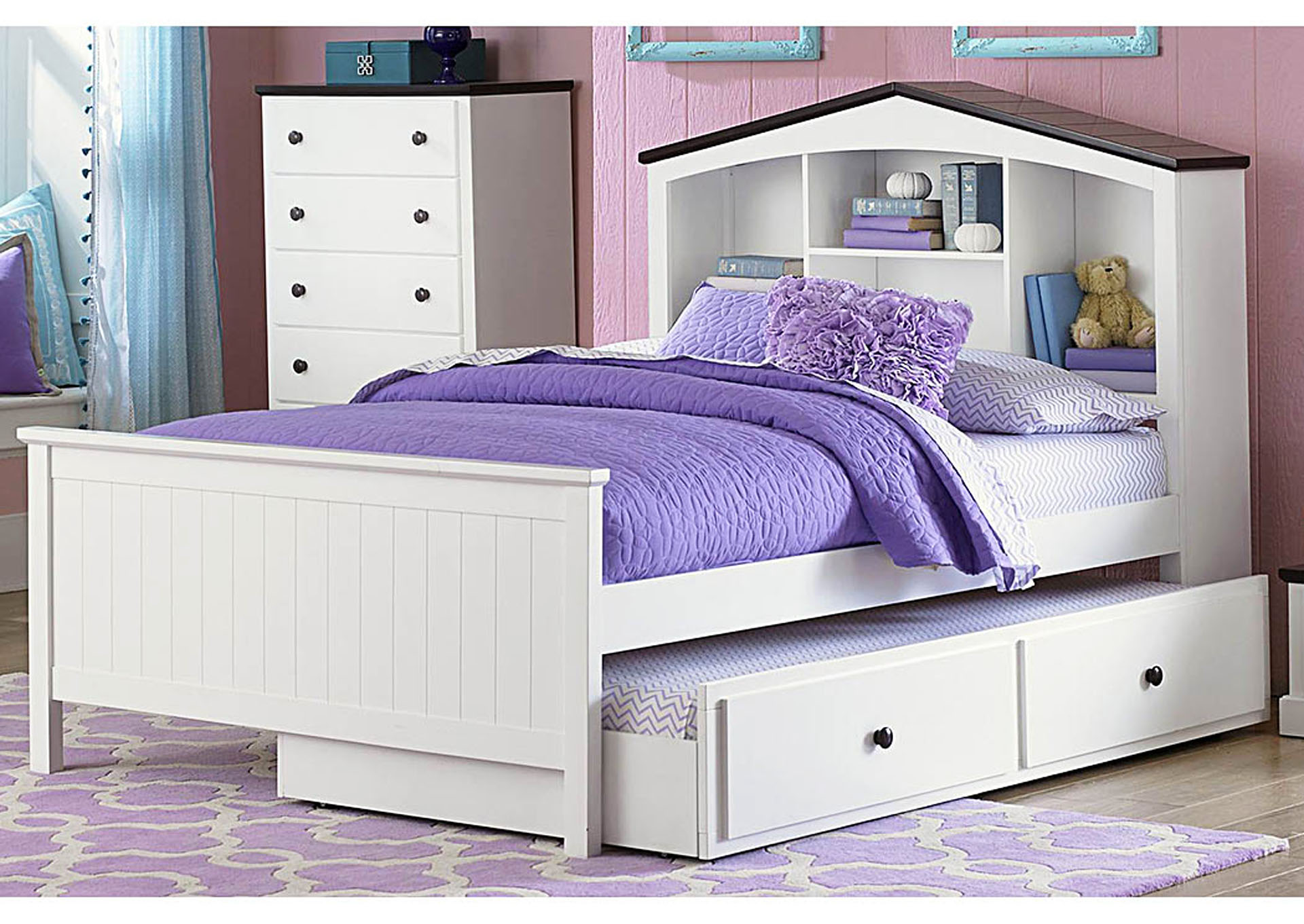 Lark Metal Trundle Bed,Homelegance