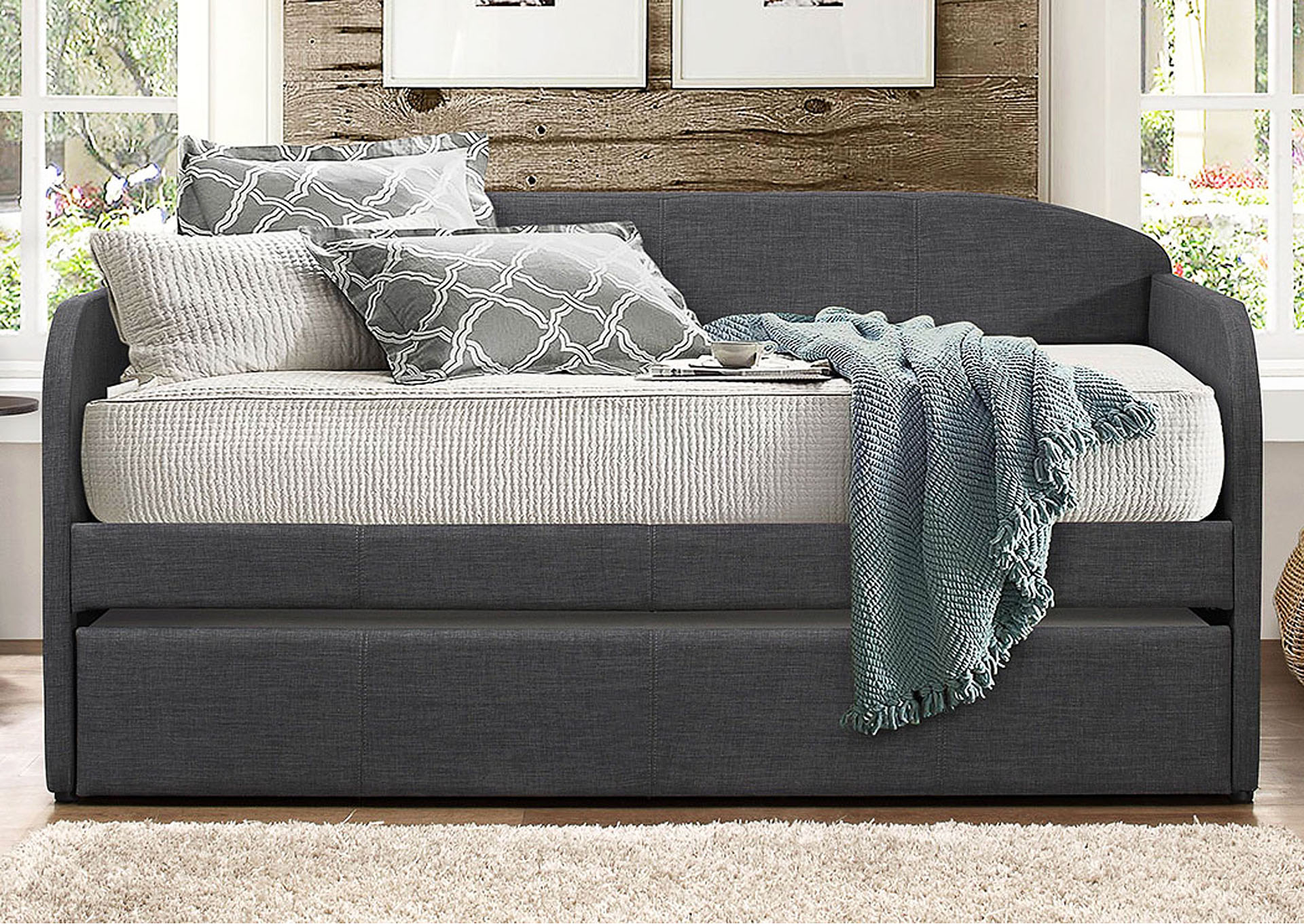 Daybed w/Trundle, Fabric,Homelegance