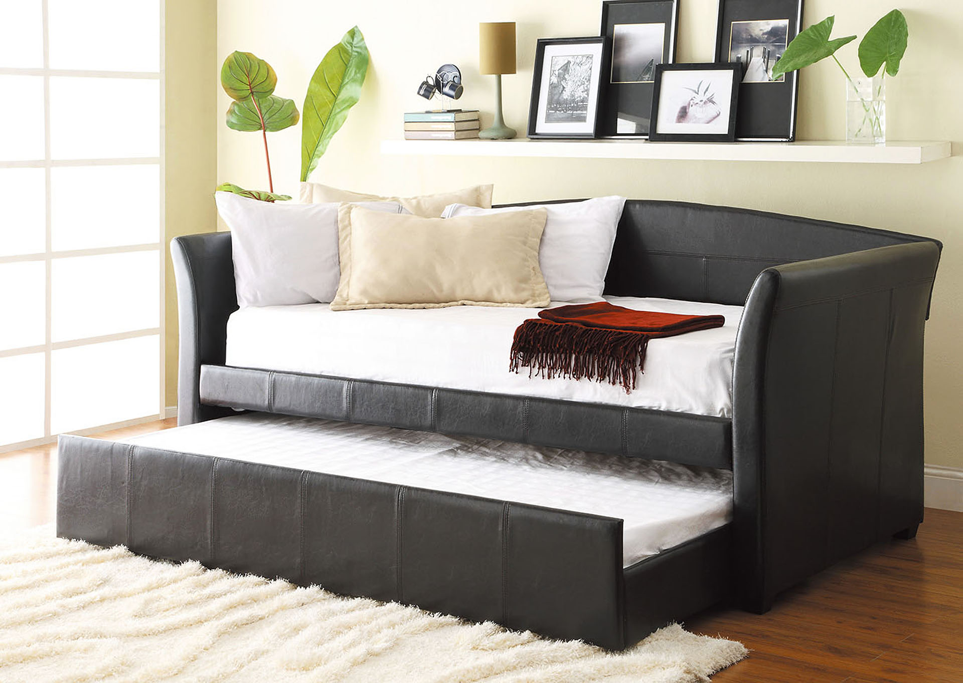 Meyer Dark Brown Daybed w/Arms,Homelegance