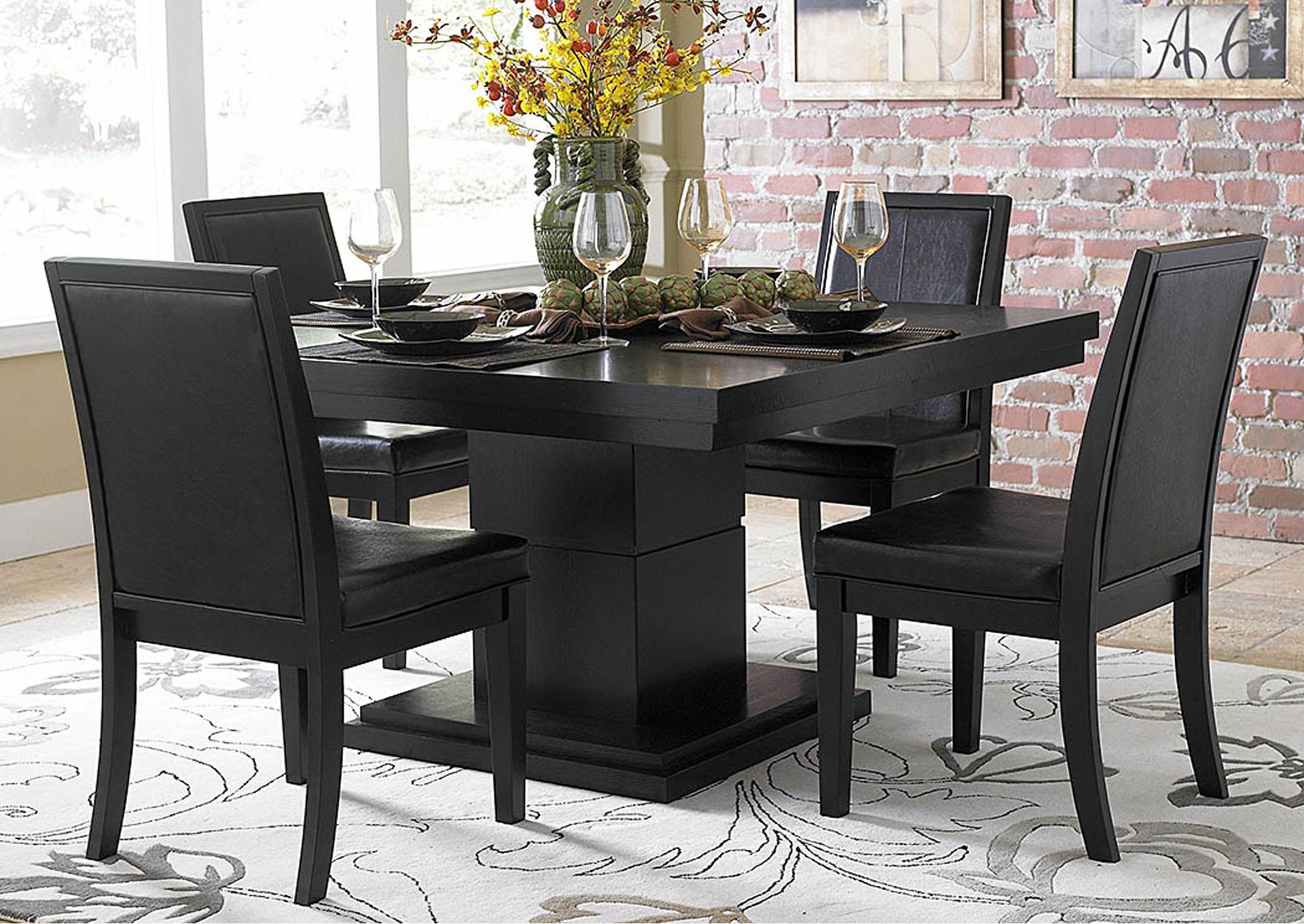 Central Furniture Mart Cicero 54 Black Dining Table W