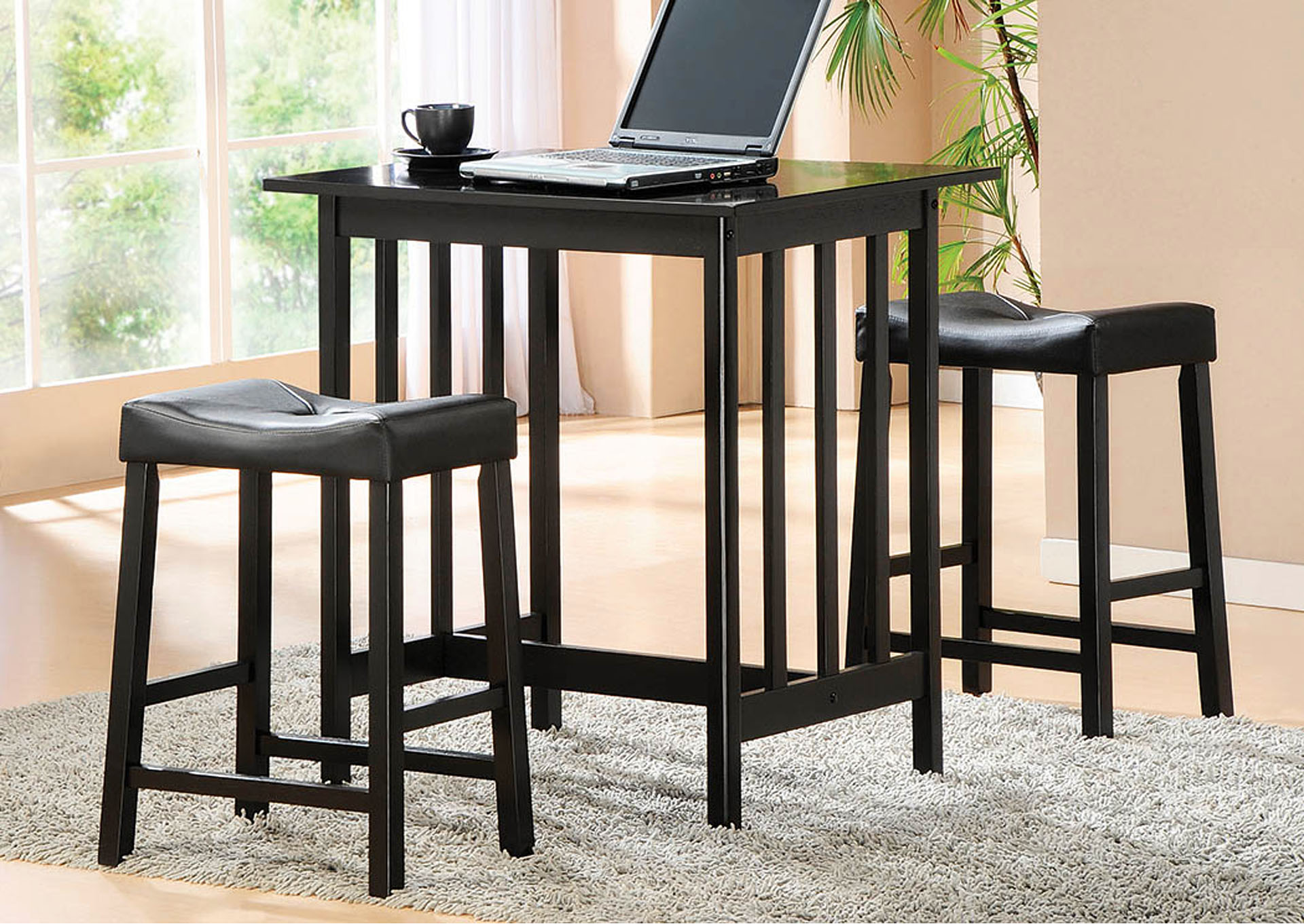 Brilliant Joe Bs Furniture Scottsdale Black 3 Piece Counter Height Alphanode Cool Chair Designs And Ideas Alphanodeonline