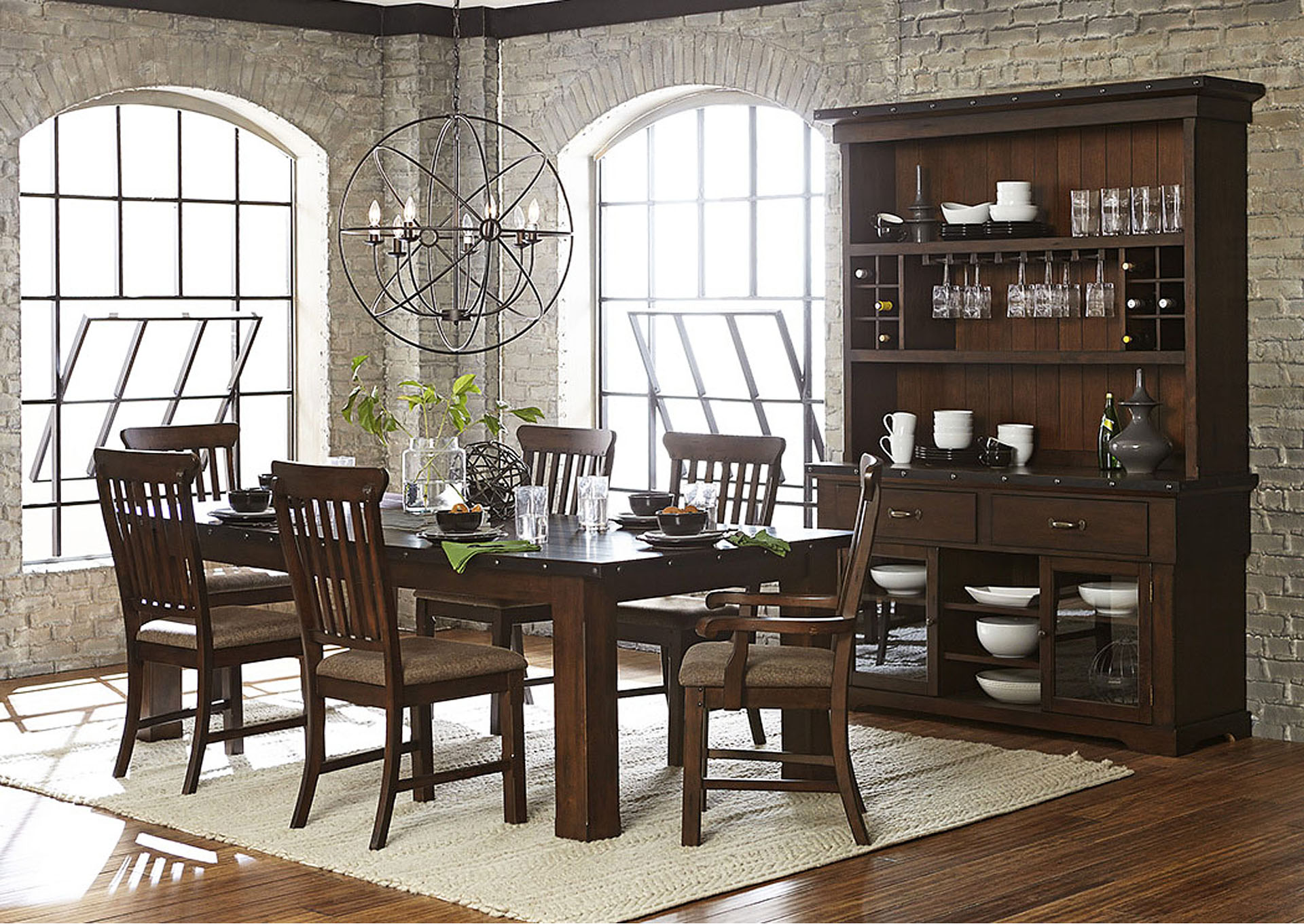 Dining Table w/18' Leaf,Homelegance