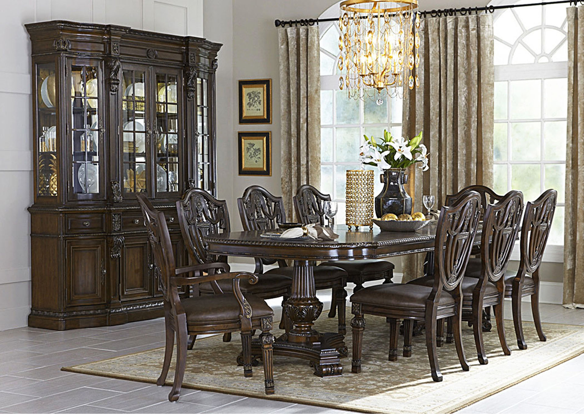 Luxury Home Furniture China Cabinet Buffet Hutch