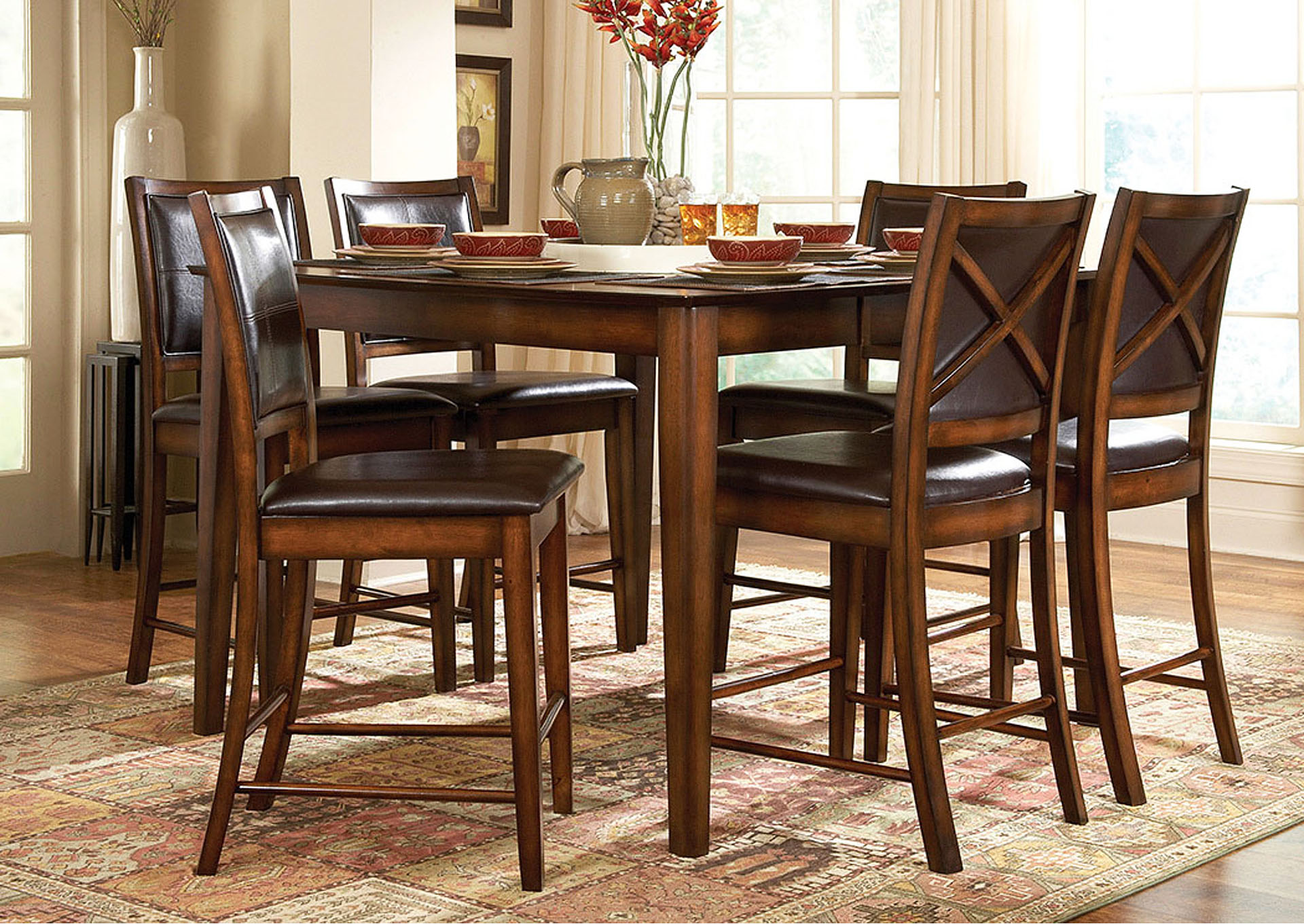 Central Furniture Mart Verona Square Counter Height Dining Table W 4