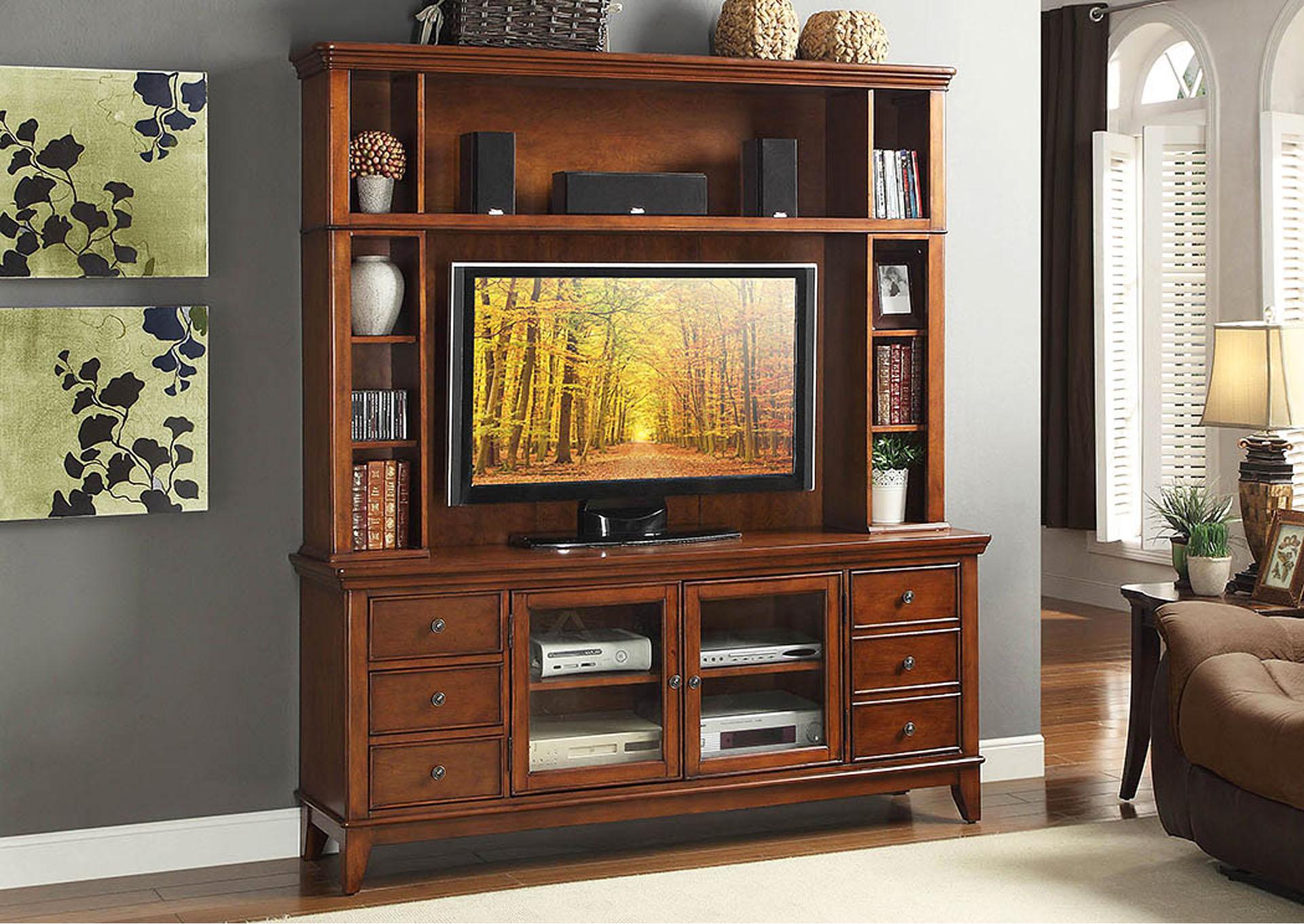 Best Buy Furniture And Mattress Culbert 60 Warm Cherry Tv Stand W 2