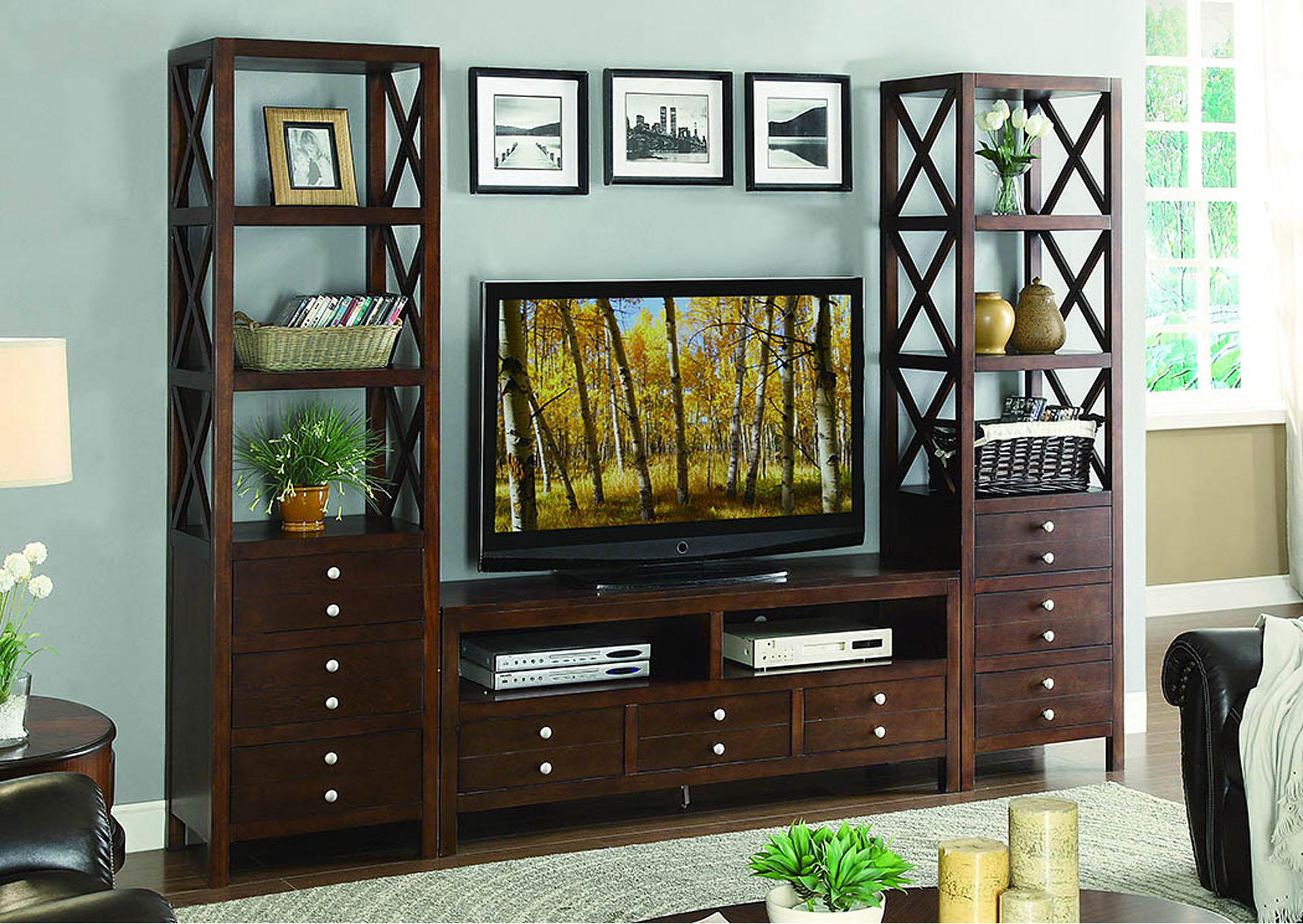 Hot Buys Furniture Snellville Ga Polson 60 Espresso