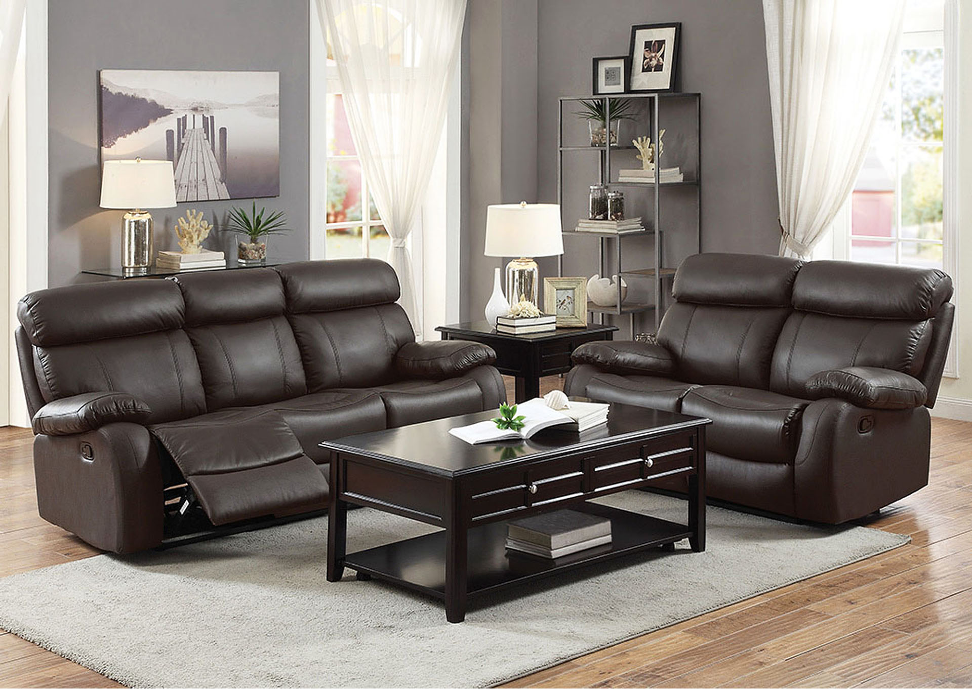 Double Reclining Sofa,Homelegance