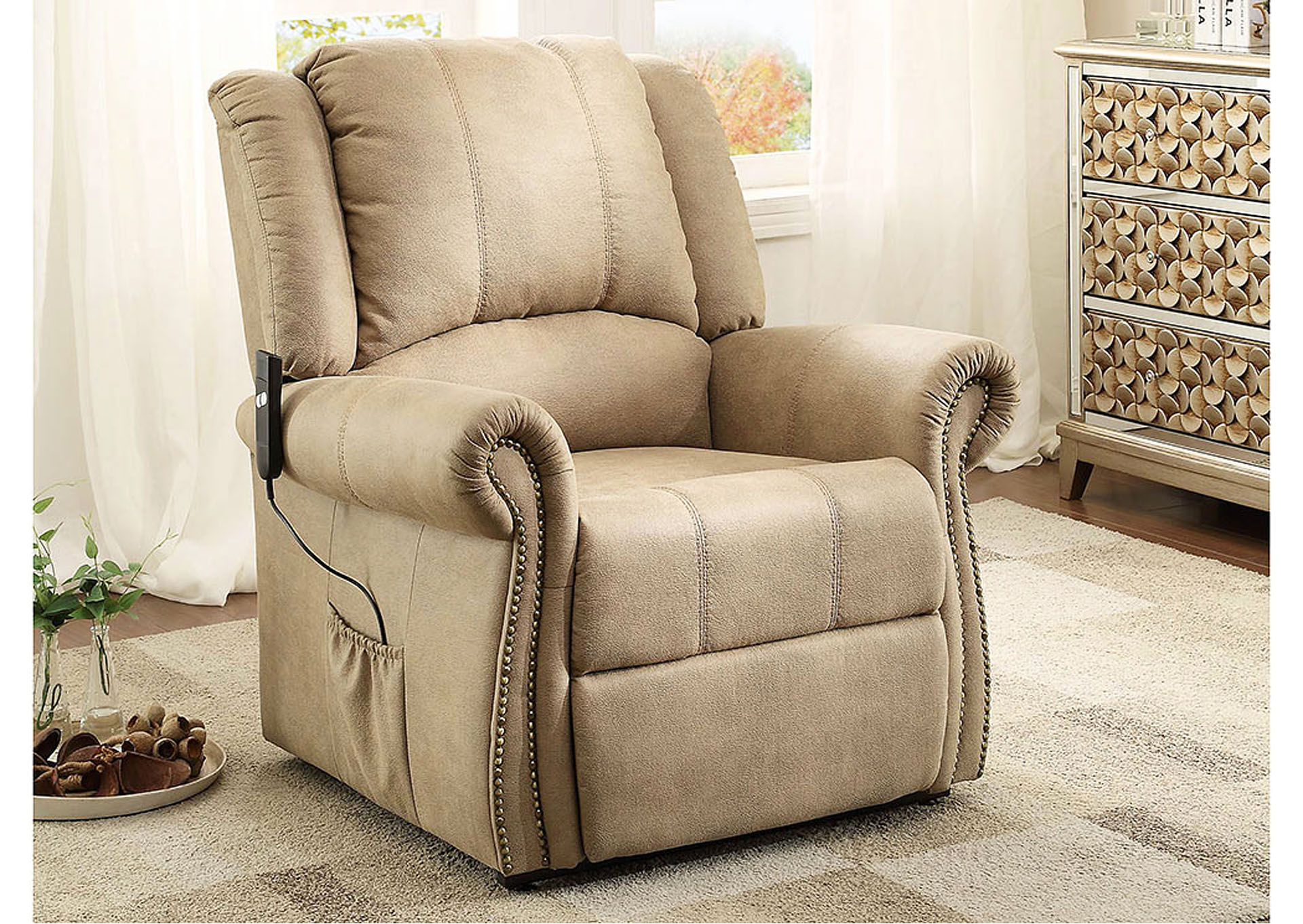 Amazing Trumbull Furniture Trumbull Kids Iola Taupe Power Lift Chair Dailytribune Chair Design For Home Dailytribuneorg