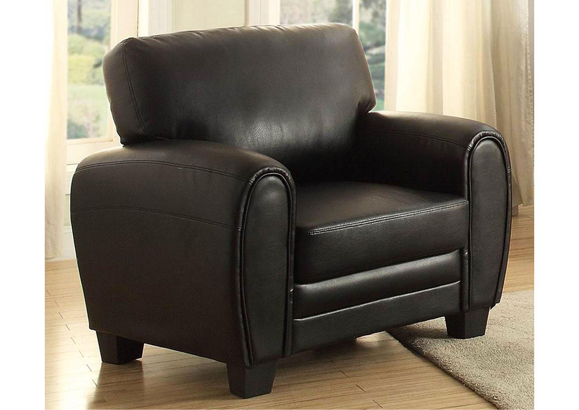 Rubin Black Chair,Homelegance