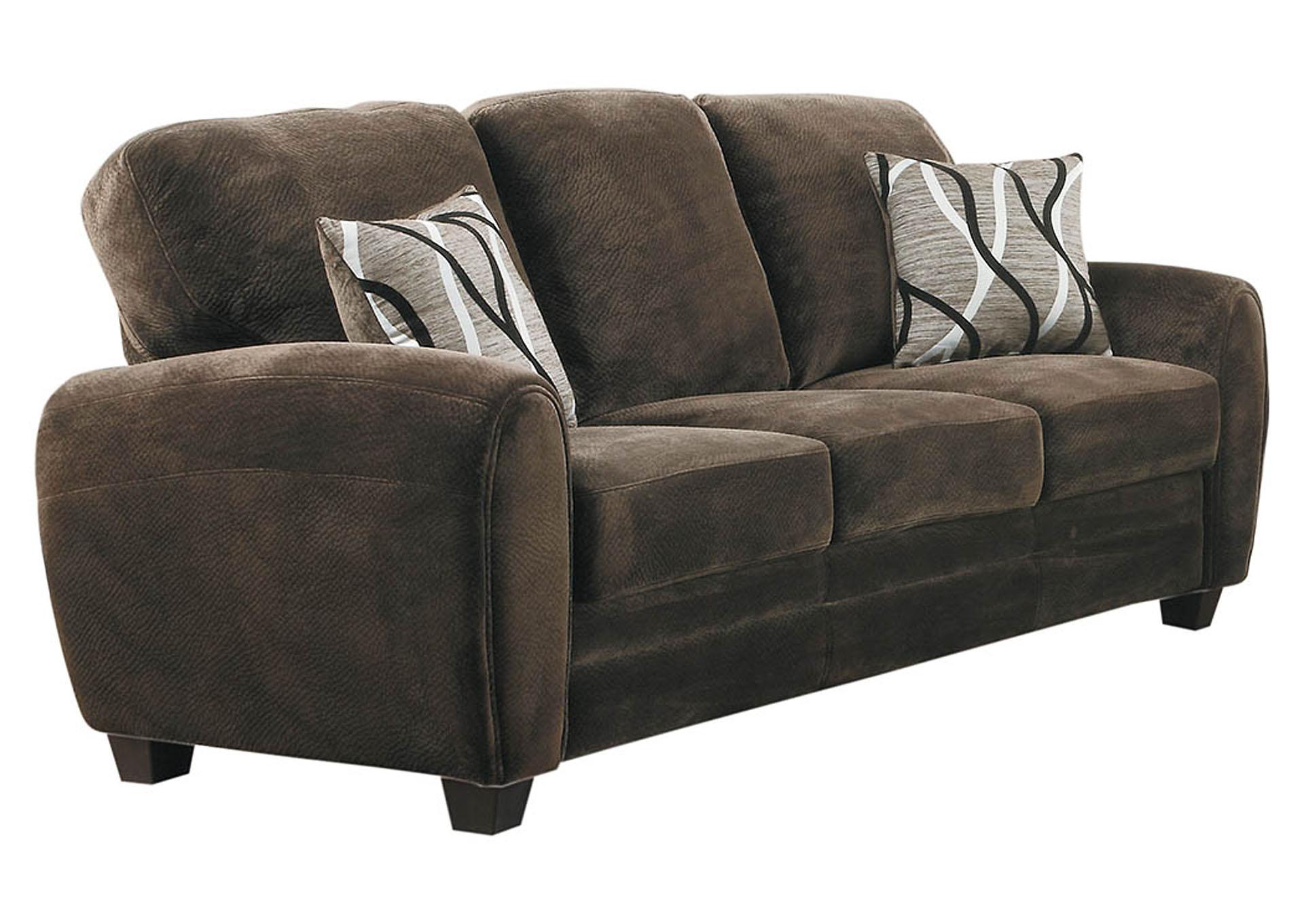 Merveilleux Rubin Chocolate Sofa,Homelegance