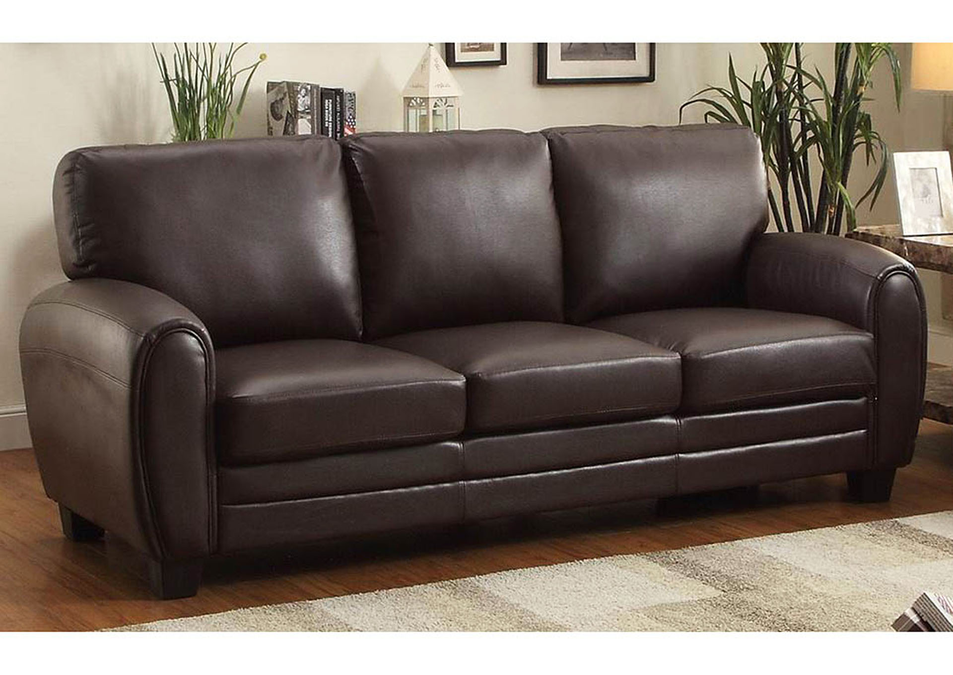 Premier Furniture Gallery Rubin Dark Brown Sofa