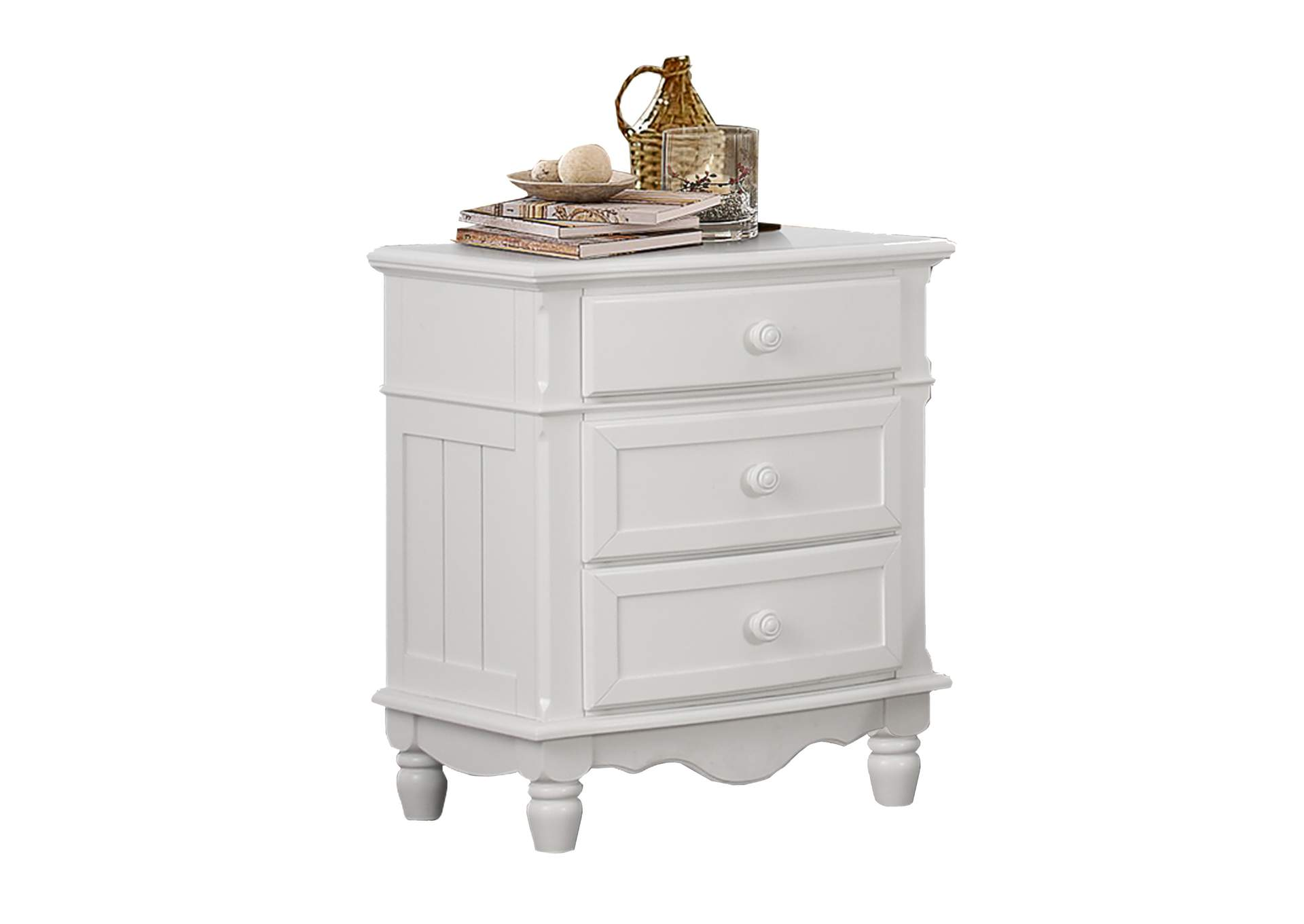 Clementine White Night Stand,Homelegance