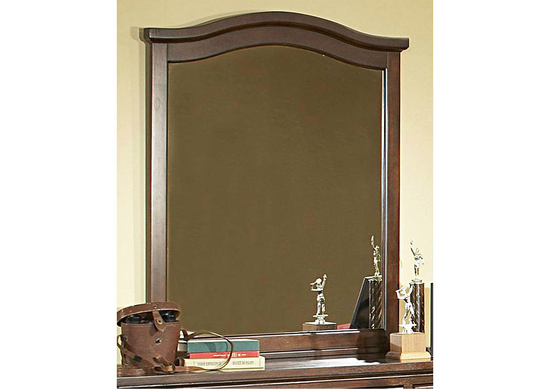 Aris Warm Brown Cherry Mirror,Homelegance