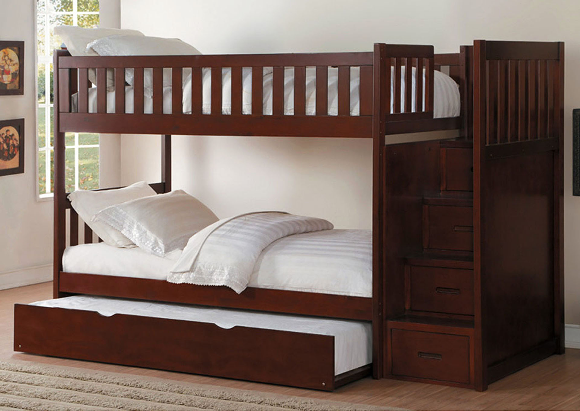 New Deal Mercantile Furniture Twintwin Trundle Bed W2 Storage Drawers