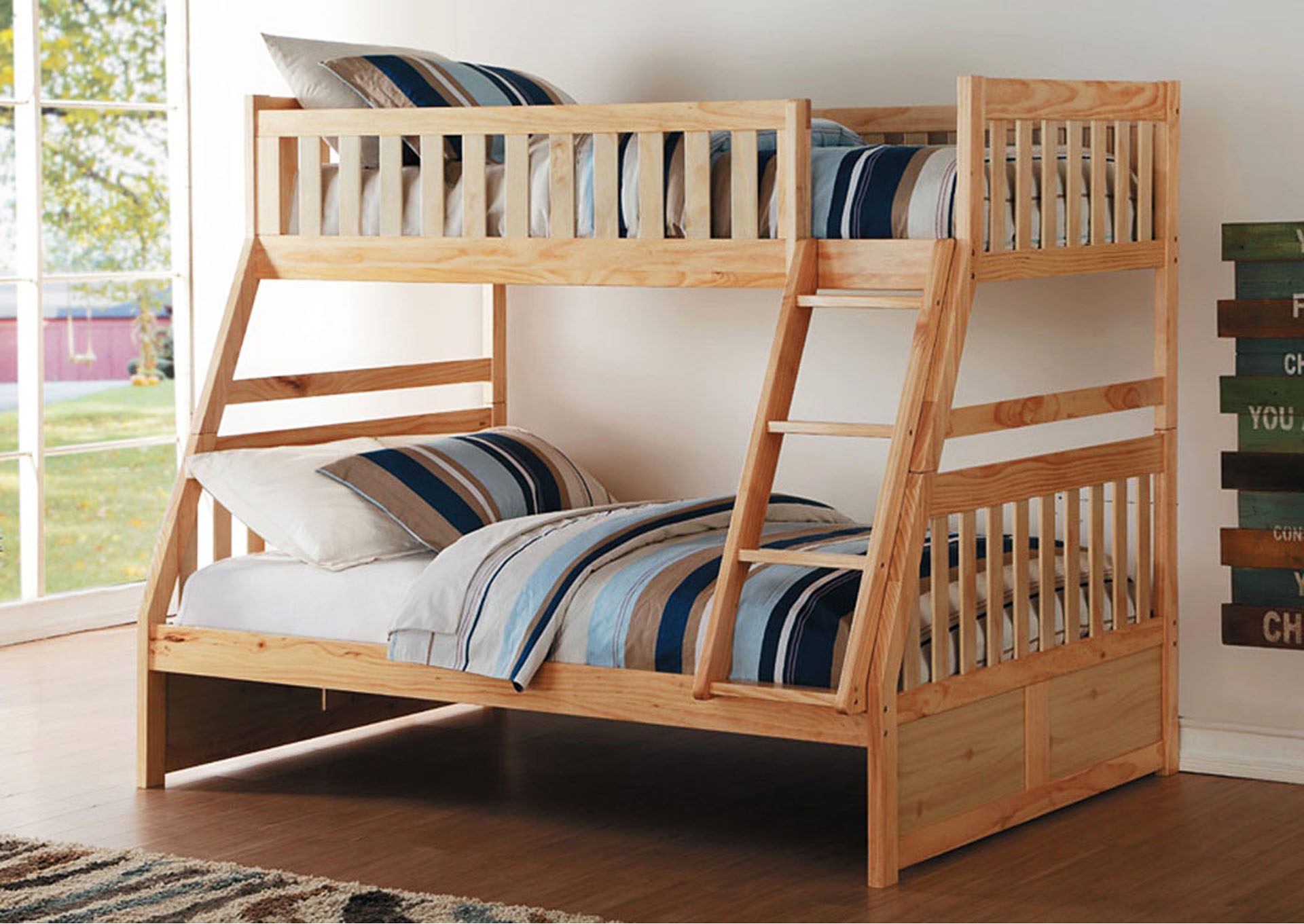 Twin/Full Bunk Bed,Homelegance