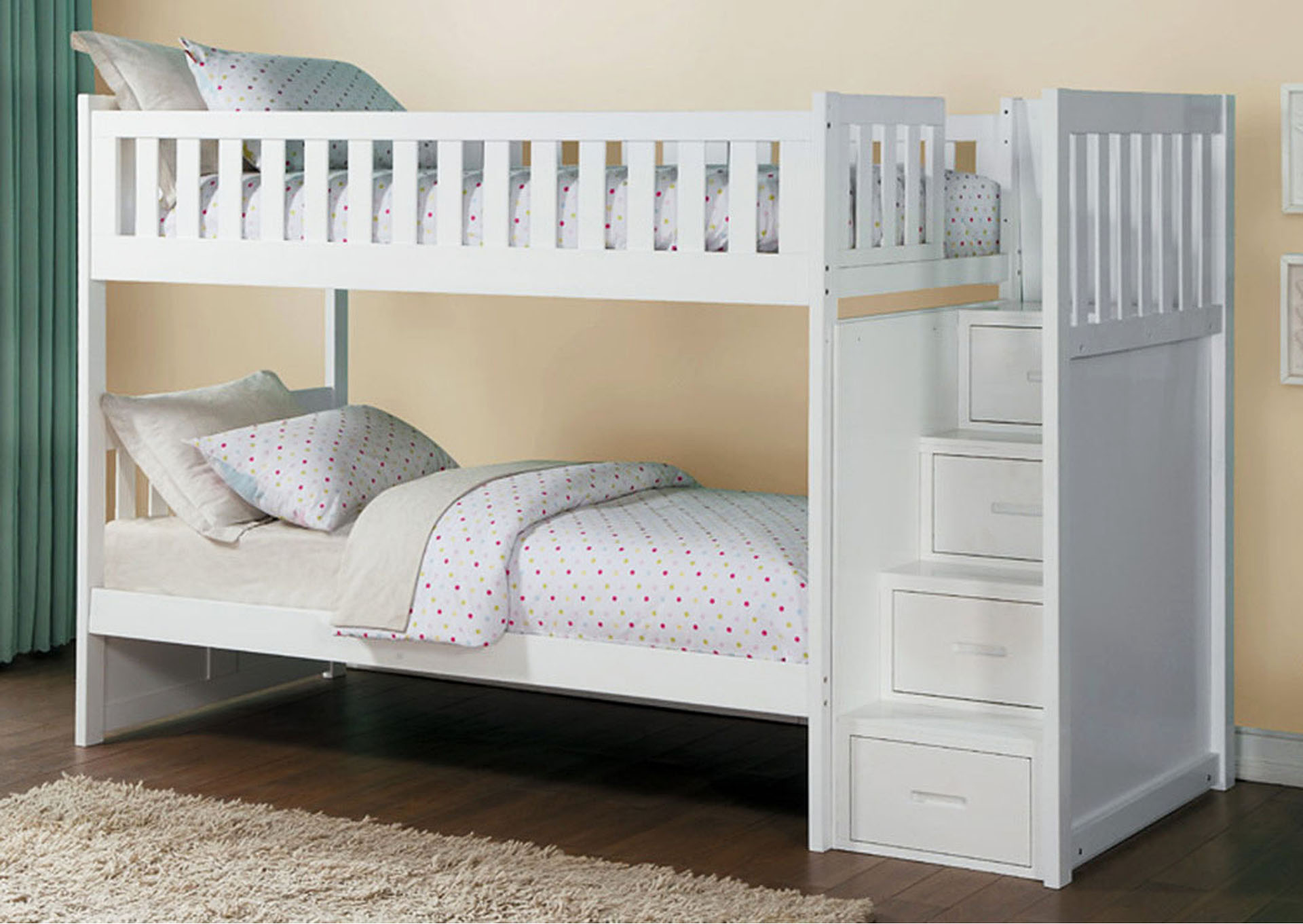 Bunk Bed w/Reversible Step Storage,Homelegance
