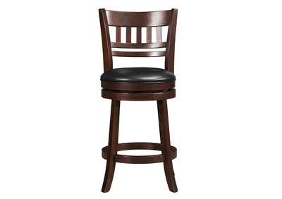 Edmond Black Swivel Counter Height Chair
