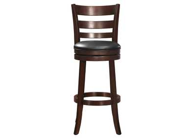 Image for Edmond Black Swivel Pub Chair