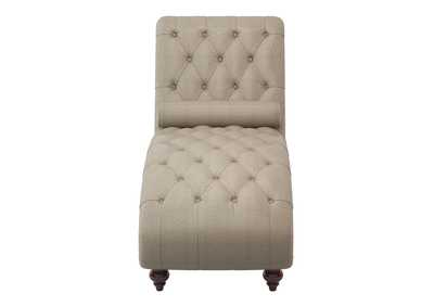 Image for Bonne Brown Chaise W/ Nailhead and Pillow