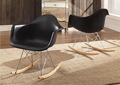 Thea Black Cradle Chair
