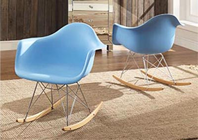 Thea Blue Cradle Chair