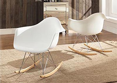Thea White Cradle Chair