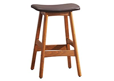 Dark Brown Counter Height Stool (Set of 2)