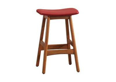 Image for Ride Matte Red Counter Height Stool [Set of 2]
