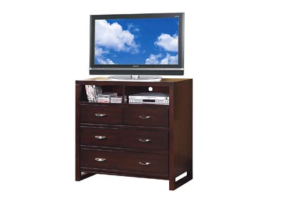 Paula II Dark Cherry TV Chest
