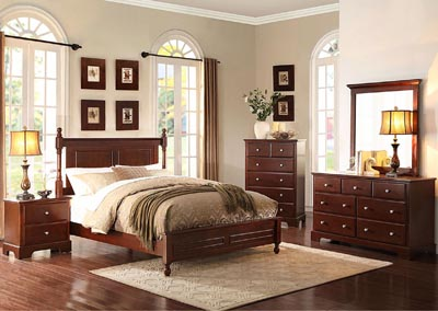 Morelle Cherry California King Platform Bed