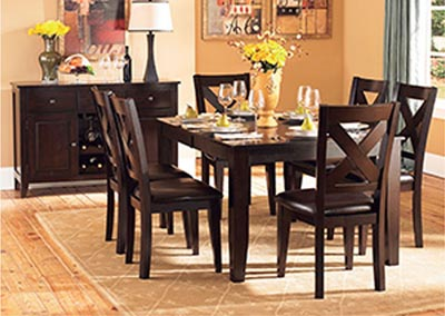 Crown Point Merlot Dining Room Table w/4 Side Chairs