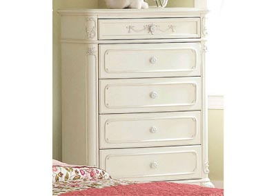 Cinderella White Drawer Chest