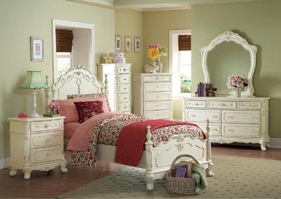 Cinderella White Queen Bed