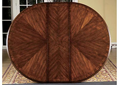 Prenzo Warm Brown Round/Oval Dining Room Table