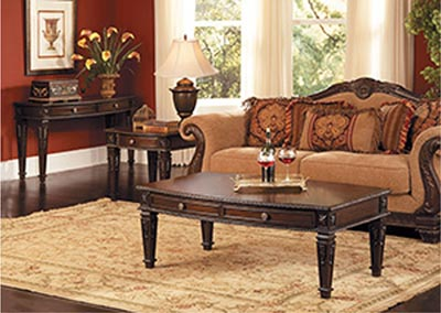 Palace Rich Brown Sofa Table