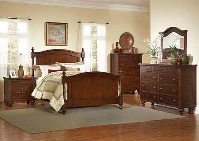Image for Aris Warm Brown Cherry California King Bed