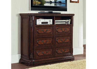 Spanish Bay Dark Cherry TV Chest