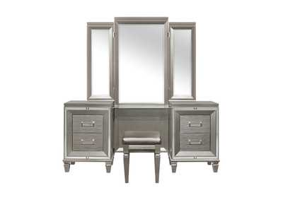 Image for Tamsin Silver Vanity Dresser W/ Mirror