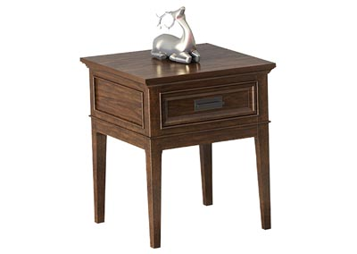 Frazier Park Cherry End Table W/ Functional Drawer