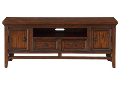 "Image for Frazier Park Brown Cherry 59"" TV Stand"