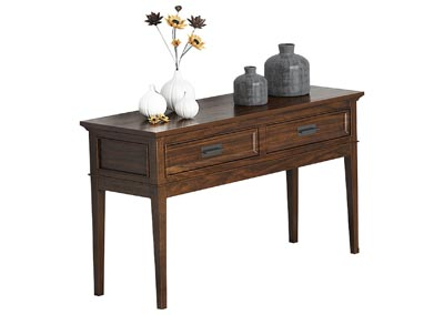 Frazier Park Cherry Sofa Table W/ Two Functional Drawers