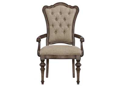 Heath Court Grey Brown Arm Dining Chair [Set of 2]