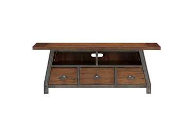 "Image for Holverson Rustic Brown & Gunmetal 64"" TV Stand"